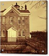Saugerties Lighthouse Sepia Acrylic Print