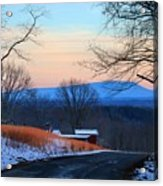 Sauratown View In Winter Acrylic Print