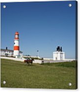 Souter Lighthouse And Foghorn. Acrylic Print