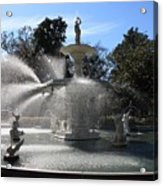 Savannah Fountain Acrylic Print