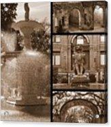 Savannah Landmarks In Sepia Acrylic Print