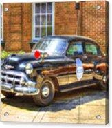 Savannah Police Car 1953 Chevrolet  Acrylic Print