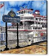 Savannah River Queen Boat Georgia Acrylic Print
