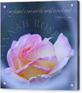 Savannah Rose 3 Acrylic Print