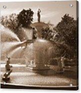 Savannah Sepia - Forsyth Fountain Acrylic Print
