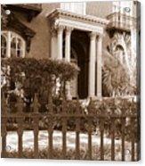 Savannah Sepia - Mercer House Acrylic Print