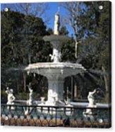 Savannah Square Fountain Acrylic Print