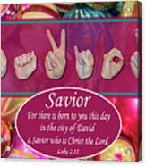 Savior Acrylic Print