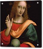 Saviour Of The World Acrylic Print by Giovanni Pedrini Giampietrino