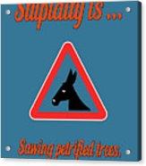 Sawing Bigstock Donkey 171252860 Acrylic Print