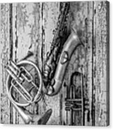Sax French Horn And Trumpet Acrylic Print