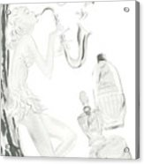 Sax Girl Acrylic Print