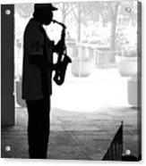 Sax Man Acrylic Print