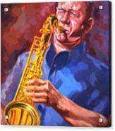 Sax Player  Acrylic Print