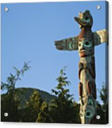 Saxman Totem Park Acrylic Print by Greg Vaughn - Printscapes
