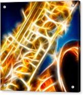 Saxophone 2 Acrylic Print by Hakon Soreide