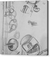 Saxophone Still Life Study Acrylic Print
