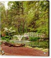 Sayen Gardens Bridge Series Acrylic Print