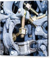 Scaffold Clamps Acrylic Print