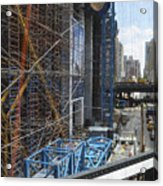 Scaffolding In The City Acrylic Print
