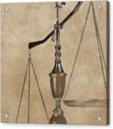 Scales Of Justice Acrylic Print