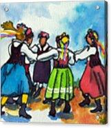 Scandinavian Dancers Acrylic Print