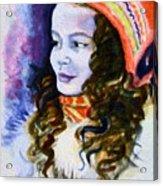 Scandinavian Girl Acrylic Print