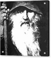 Scandinavian Mythology The Ancient God Odin Acrylic Print
