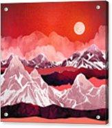 Scarlet Glow Acrylic Print
