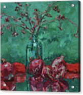 Scarlet Pomegranates Acrylic Print