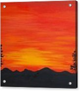 Scarlet Sunset  Sold Acrylic Print