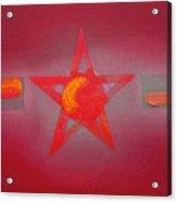 Scarlet Vermillion Acrylic Print
