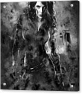 Scarlett Johansson Black Widow Acrylic Print