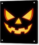 Scary Halloween Horror Pumpkin Face Acrylic Print