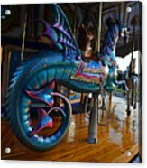 Scary Merry Go Round Boston Common Carousel Acrylic Print