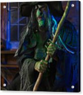 Scary Old Witch Acrylic Print