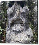 Scary Stone Head Acrylic Print