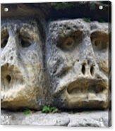 Scary Stone Heads Acrylic Print