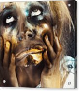Scary Zombie Pulling Funny Face  Acrylic Print