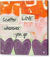 Scatter Love Acrylic Print