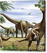 Scelidosaurus, Nothronychus Acrylic Print