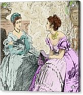 Scene From Anthony Trollope's Novel He Knew He Was Right Acrylic Print
