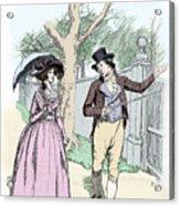Scene From Sense And Sensibility By Jane Austen Acrylic Print