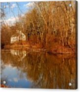 Scene In The Forest - Allaire State Park Acrylic Print