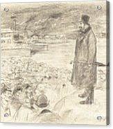 Scene Of A Strike (third Plate) Acrylic Print
