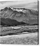 Scenic Alaska Bw Acrylic Print