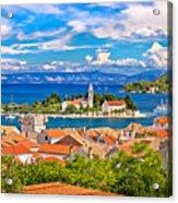 Scenic Island Of Vis Waterfront Acrylic Print
