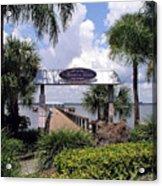 Scenic Melbourne Beach Pier  Florida Acrylic Print