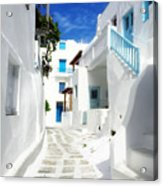 Scenic Mykonos Acrylic Print