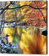Scenic New Jersey Fall Fly Fishing  Acrylic Print